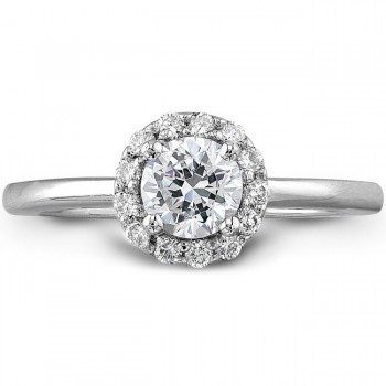 Classic Halo Engagement Ring 5/8CTW