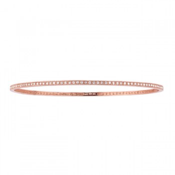14k Rose  Diamond Pave Set Bangle  19294-R