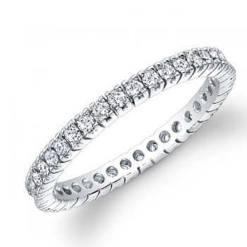 White Gold Diamond Eternity Band 1/2 CTWT