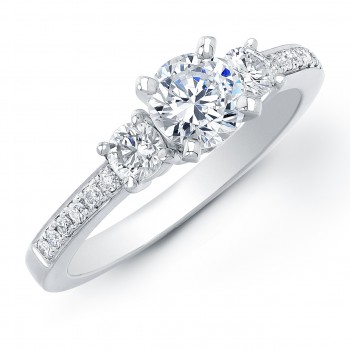 1Ct TW Diamond Three-Stone Engagement Ring