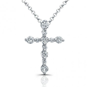 Delicate Prong Diamond Cross Pendant
