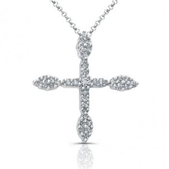 14kt Elegant Diamond Cross Pendant