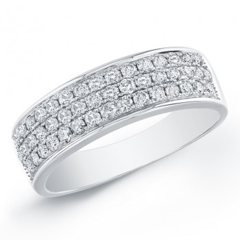 14k White Gold Classic Pave Band