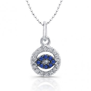 14K White Gold Baby Evil Eye Necklace
