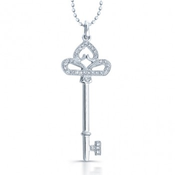Diamond Key - Heart Pendant .14 Carats Total Weight