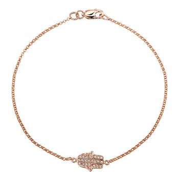 Rose Gold Pave Diamond Hamsa Bracelet