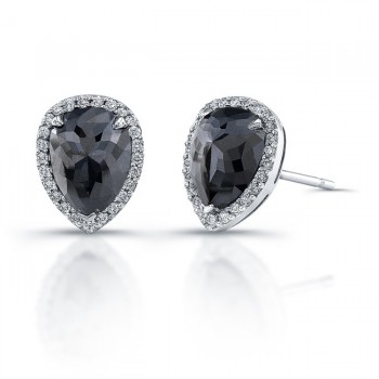 grande solitaire black diamond stud products gold earring stones white earrings
