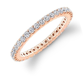 Rose Gold Diamond Eternity Band 3/4 CTWT