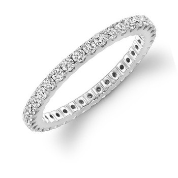 White Gold Diamond Eternity Band 3/4 CTWT