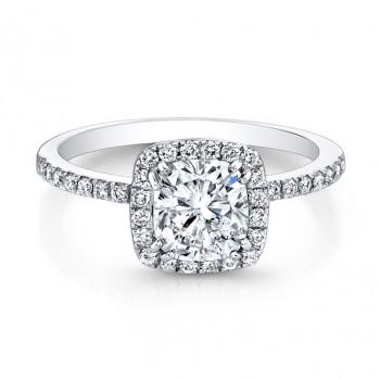 Halo Cushion Engagement Ring 1.72ct G,VS1 GIA