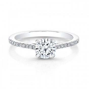 Delicate Classic Engagement Ring Setting