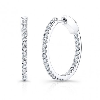 Diamond Hoops Inside Out 1 Carat