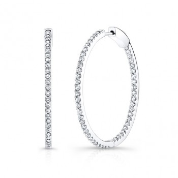 Diamond Hoops Inside Out 1.89 Caratc