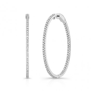 Oval Diamond Hoops Inside Out 2.65ctw
