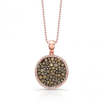 14K Rose-Cocoa Brown Diamond Necklace