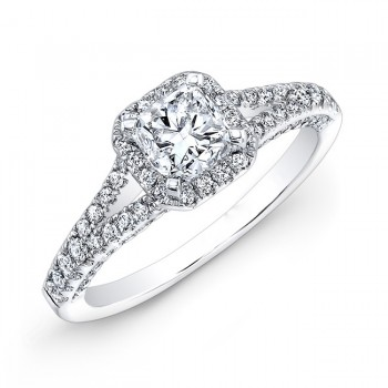 Halo Cushion Diamond Engagement Set