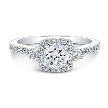 1 Carat TWT Halo Engagement Ring