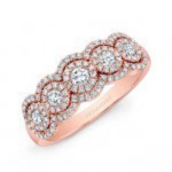 5/8TWT RoseGold 5 Stone Diamond Ring