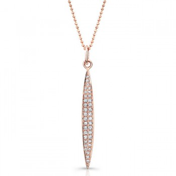 Rose Gold Marquise Shaped Dangle Necklace