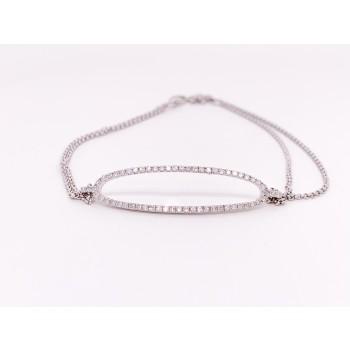 14K Diamond Oval Bracelet