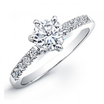3/4 Carat  Micro Prong Diamond Engagement Ring