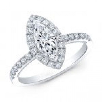 Marquise Diamond Halo Diamond Ring
