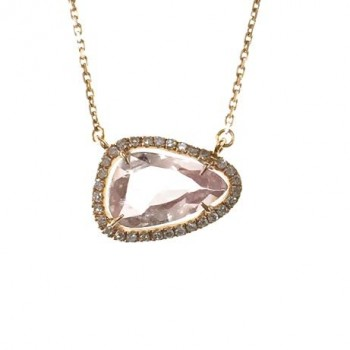 rose gold pink sapphire necklace