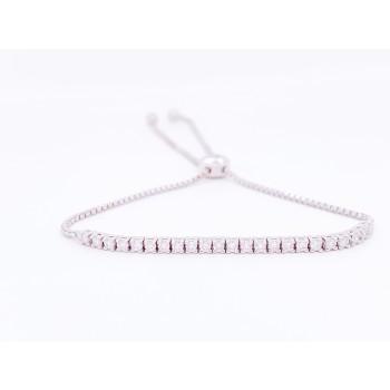 14K Diamond Bolo Tennis Bracelet