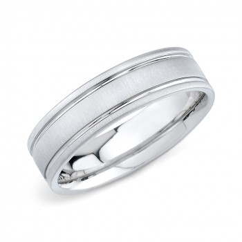 Mens Wedding Ring Matte Finish