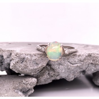 Platinum Opal Ring