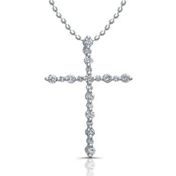 Delicate Traditional Diamond Cross