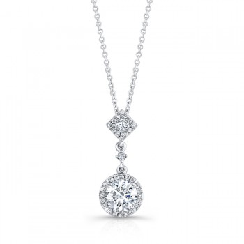 DIAMOND HALO DANGLE PENDANT
