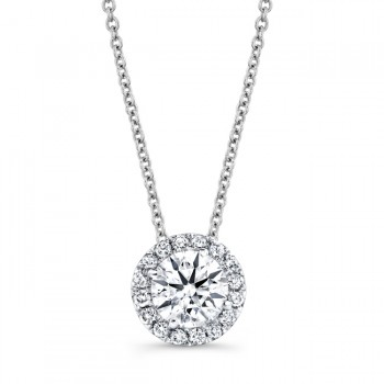 Diamond Halo Necklace With 1/2 CTW