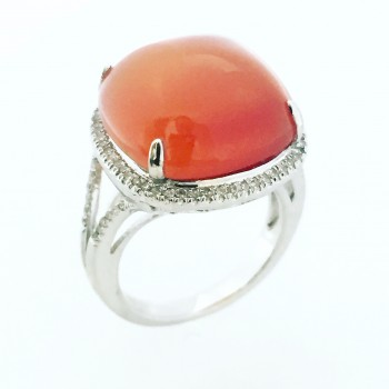13 Carat Carnelian Diamond Ring-CM20110
