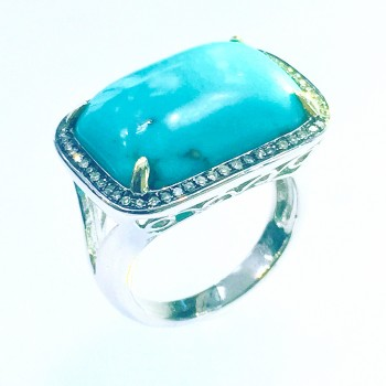 13 Carat Turquoise Diamond Ring-CM20111
