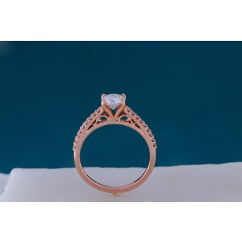 Rose Gold Vintage Moissanite Engagement Ring