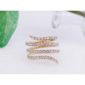 14k Yellow Gold Swirl Ring