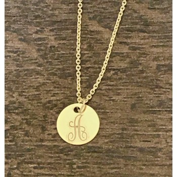 14K Yellow Gold Engravable Pendant