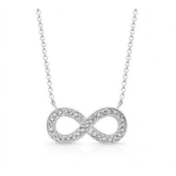 White Gold Diamond Infinity Necklace
