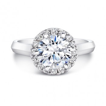 1 CTW Classic Halo  Engagement Ring