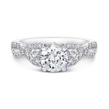 18k White Gold Split Shank White Diamond Engagement Ring NK26638