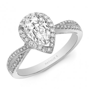 Natalie k criss cross shank ps halo engagement ring