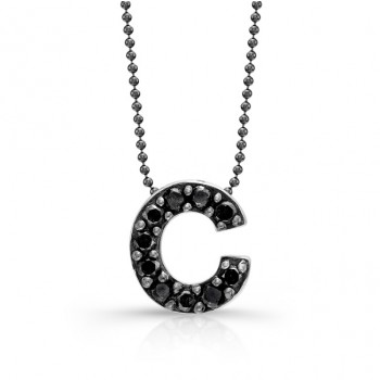Black Diamond Initial Pendant C