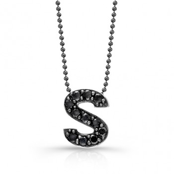 Black Diamond Initial Pendant S