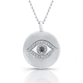 Silver Diamond Evil Eye Pendant