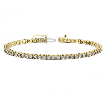 Diamond Eternity Bracelet in 14k Yellow Gold (3 ct)